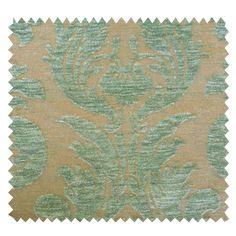 Tissu Jacquard Navaria Arabesque Vert - Tissus des Ursules