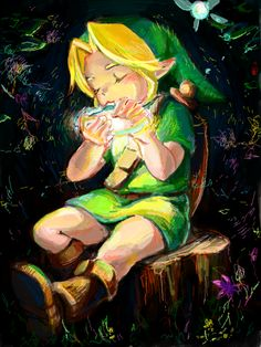 The Legend of Zelda: Ocarina of Time, Young Link Zelda Video Games, Ocarina Of Times, Nintendo, High Fantasy, Breath Of The Wild, Video Game Art, Super Smash Bros, Legend Of Zelda, School Games