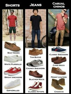 Teenage boys shoes and trainers match chart