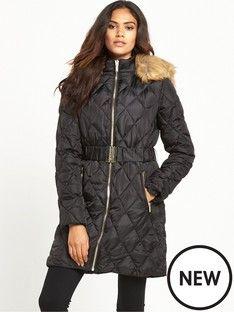 David Barry Black ladies quilted coat | Debenhams | 2016/17 new ... : quilted ladies coats - Adamdwight.com