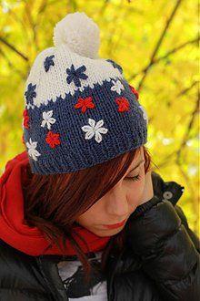 Čiapky - biela, modrá, červená - 1858781