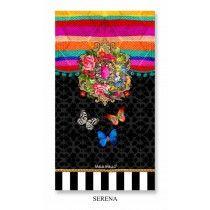 Melli Mello strandlaken Serena 100x180 Mediallion met zwart en vlinders