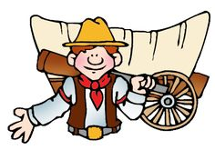 The Oregon Trail, Life on the Wagon Trains - FREE Power Points American History Lesson Plans & Games for Kids
