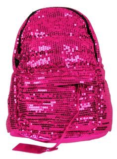 Pink Sequin Backpack... this reminds me of my little sister!