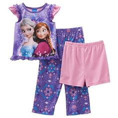 Disney's Frozen Elsa & Anna Sparkle in Snow Pajama Set - Toddler Girl #Kohls #FrozenFriday