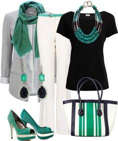 """""""grey and turquoise"""" by sagramora on Polyvore"""