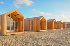 NEW dune houses Nieuwvliet - Beach Houses directly on the beach and sea. - NEW dune houses Nieuwvliet – Beach Houses directly on the beach and sea. Tiny Beach House, Tiny House Cabin, Beach Houses, Prefab Homes, Play Houses, Bungalow, House Plans, Shed, Cottage