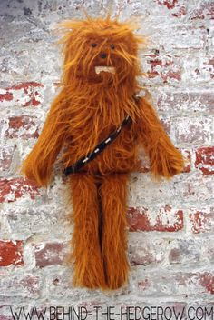 chewbacca on wall with blog address