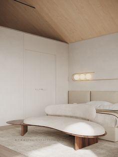 Luxury Dining Room, Luxury Living, Sofa Design, Furniture Design, Interior Design, Gray Upholstered Headboard, End Of Bed Bench, Luxury Modern Homes, Modern Bedroom Decor
