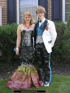 Duck tape prom outfits- go vote!