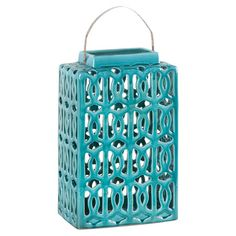 Color - I have major respect for ceramic arts! | Large Alameda Lantern in Turquoise