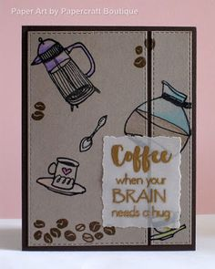Papercraft Boutique: CAS(E) this Sketch #225 - Coffee Love