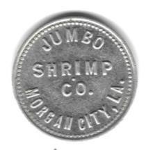 Morgan City, Louisiana - Jumbo Shrimp Company Token Morgan City, Vintage Pictures, Louisiana, Shrimp, Vintage Photography