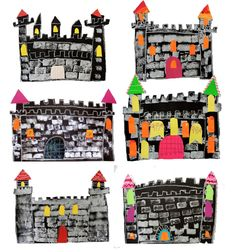 Easy stamped castle art project for kids Every grade level loves to make castles. I wanted an easy fairy tale castles project for my second grade students. Fairytale Castle, Fairytale Art, Kindergarten Art Projects, In Kindergarten, Fairy Tale Crafts, Fairy Tale Projects, Castle Crafts, Castle Project, Deep Space Sparkle