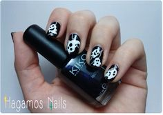 Phantom Nail Art #Halloween Uñas con fantasmas. Reto #ManisdeHalloween HN