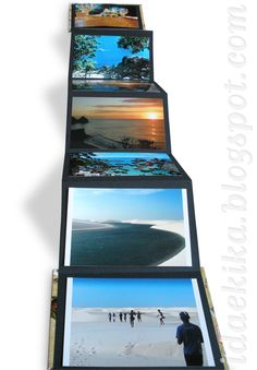 álbum de fotos sanfonado com capa dura / workshop