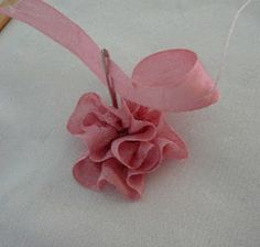 Folded Rose/Gathered Combination      Should you wish to create as above, first   stem stitch the stem of the rose.     Step 1:  Ref...