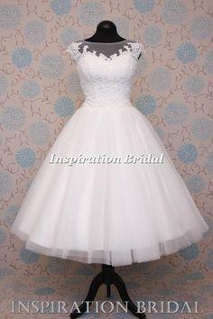 1546 robe de mariée courte mariage Neuf blanche ivoire taille 8 10 12 14 16 18