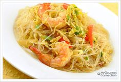 Curried Cellophane Noodles with Shrimp from MyGourmetConnection.com