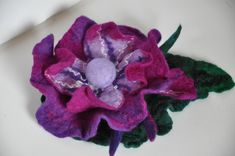 hand made felt brooch Felt Brooch, Leather Bags Handmade, Floral, Flowers, Jewelry, Florals, Jewlery, Jewels, Jewerly