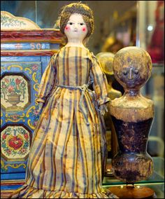 600 year old stump doll without legs from Princeton Doll & Toy Museum