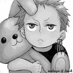 Little zoro! With a bunny ! So kawaii Zoro One Piece, One Piece Ace, Roronoa Zoro, Fanart, 0ne Piece, Kawaii, Anime Manga, Chibi, Art Drawings