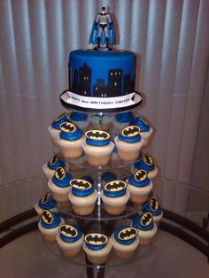 Batman Cupcake Tower - Cake by Kimberly Cerimele