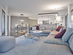 Nizza Paradise offers modern design apartments, with a wonderful view on the Lake Lugano (Ticino, Switzerland) and on the Guidino Park. Lugano, Apartment Design, Luxury Real Estate, Innovation Design, Modern Design, Paradise, Couch, Furniture, Home Decor