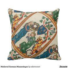 Medieval German Minnesänger Throw Pillow
