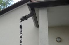 Rain chains, a feature of Japanese architecture, are a pleasant alternative to downspouts. The translation is kusari doi, and for centuries they have hung from the eaves of Buddhist temples. Are rain chains right for your house? Read on:
