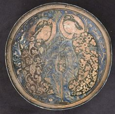 Bowl Date: late 12th–early 13th century Geography: iran, Kashan Culture: Islamic Medium: Stonepaste; polychrome painted under transparent glaze - See more at: http://www.metmuseum.org/collection/the-collection-online/search/452029#sthash.WcXjh4my.dpuf