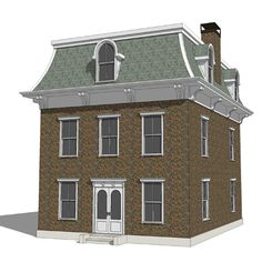 Mansard Roof Definition Also Called A Hip Each Face Of Which Has Steeper Lower Part And Shallower Upper