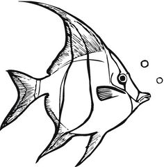 Tropical Fish Coloring Pages with tropical fish coloring pages