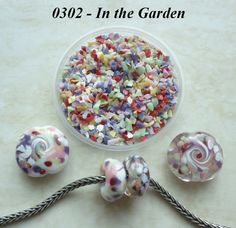 0302 In the Garden  Glass Frit Blend  K1  COE by BeadTreasures4You