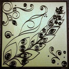 "quilling titled ""inner beauty"""