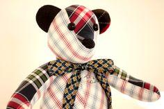 memory bear handmade in Ireland by tinykooka