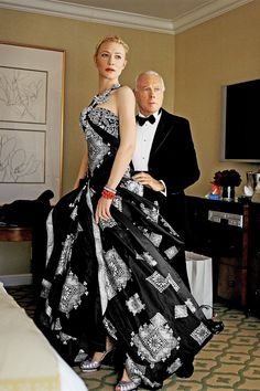 2007: Fitting a couture gown on Cate Blanchett.