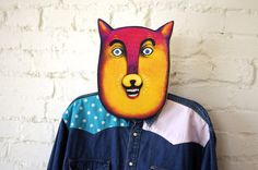 Mr. Cat Clothes Rack  Print on Birch Plywood  Wall by HelloMrApril, $65.00