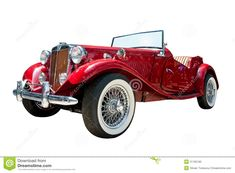 Vintage Sport Retro Convertible Car Isolated Stock Photo - Image ...
