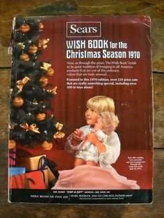 Vintage 1970 Sears Christmas Wish Book Catalog.