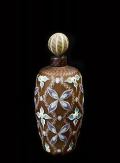 Perfume bottle with Floral motif- SATO