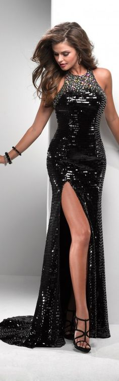 Black Backless Full Length Gown