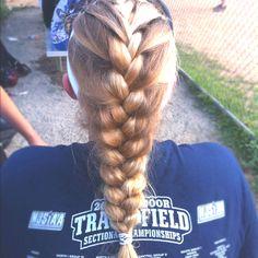 Sports hair. French braid