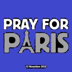 #PrayForParis  (immagine da Le Figaro modificata , perché Il sasso nello stagno stagno di AnGre non condivide nessuna 'bandiera nera')