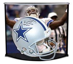 EMMITT SMITH Autographed / Inscribed Dallas Cowboys Proline Helmet w/ Custom Designed Curve Display STEINER LE 22 - Game Day Legends