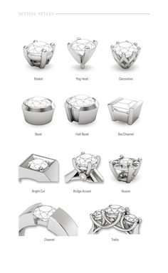 diamond setting types - Google Search