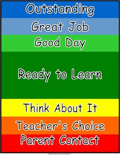 The Clip Chart!! =D  Best Classroom Behavior Management tool I've ever used in the classroom, hands down.    Google 'Rick Morris Behavior Management Clip Chart' to learn more about it!