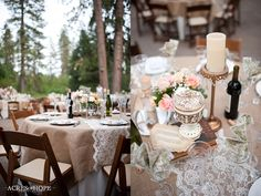 I'm liking the burlap and lace wedding!!