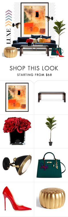 """Tiptoe sofa..."" by gloriettequartet ❤ liked on Polyvore featuring interior, interiors, interior design, home, home decor, interior decorating, Garcia, Kartell, Hervé Gambs and Nearly Natural"