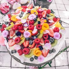 Life is what you bake it . You can now order our cakes online via our website. Tag someone who would love this epic pavlova at home! #thegrounds #dessert #pavlovagoals